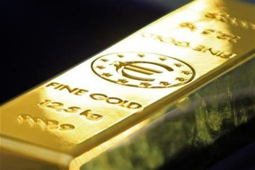 A gold bar carrying the Euro sign