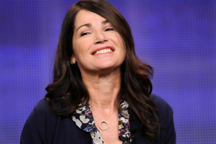 "Actress Kim Delaney from the television show ""Finding a Family"" takes part in a panel discussion during the Hallmark Channel portion of the Press Tour for the Television Critics Association in Beverly Hills, California"