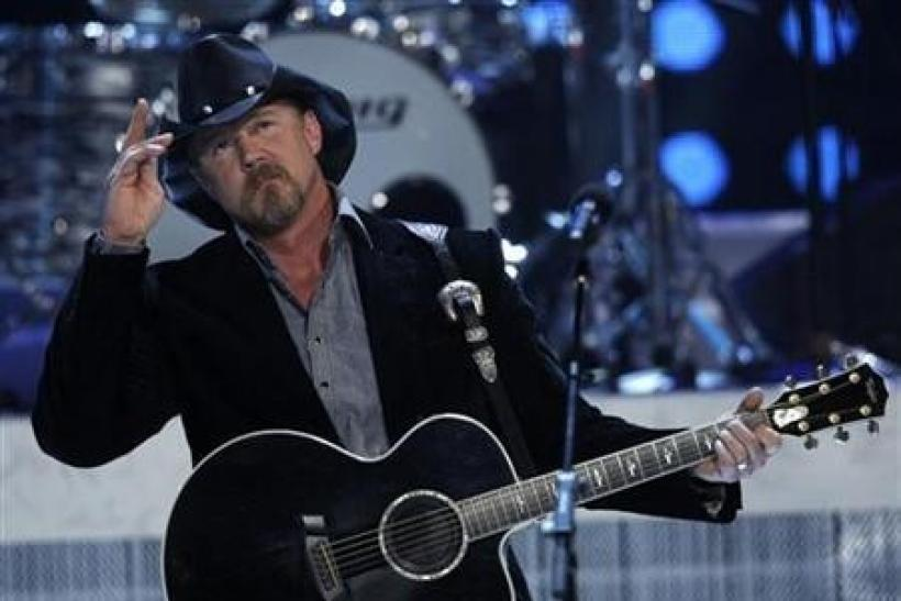 Country music star Trace Adkins performs during the 2010 Miss USA pageant at the Planet Hollywood Resort and Casino in Las Vegas, Nevada