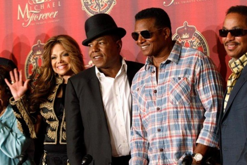 La Toya Jackson and her brothers Tito, Jackie and Marlon attend a news conference to announce a tribute concert for Michael Jackson in Beverly Hills