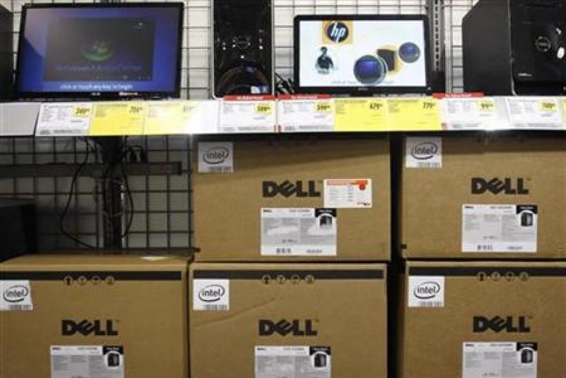 Dell computers are displayed at Best Buy in Phoenix