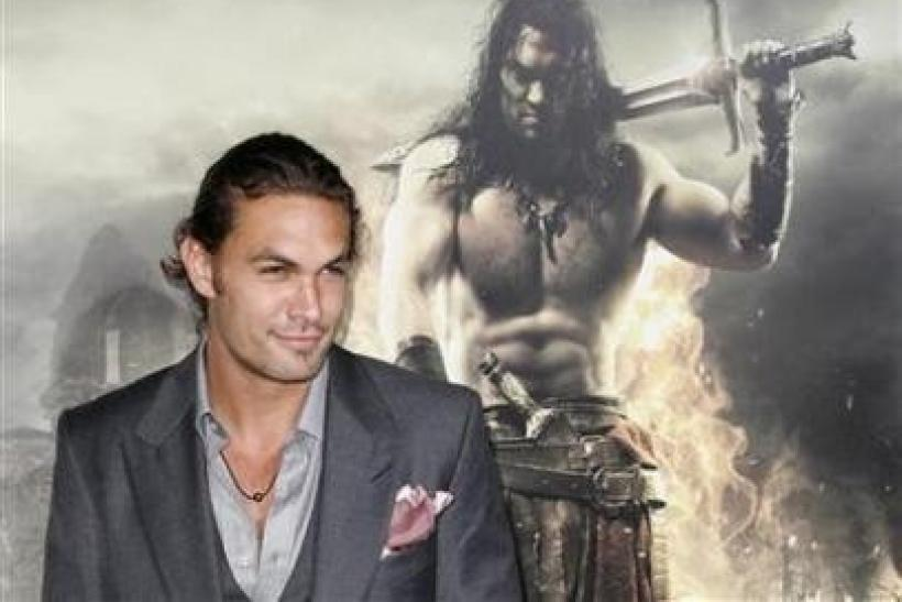 "Cast member Jason Momoa arrives at the film premiere of ""Conan the Barbarian"" in Los Angeles"