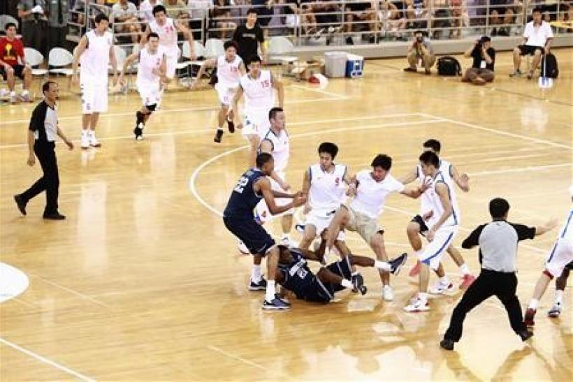 "China-U.S. basketball ""friendly"" erupts into brawl"
