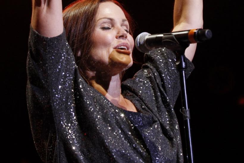 Belinda Carlisle of American rock band The Go-Go's performs at the Greek theatre in Los Angeles