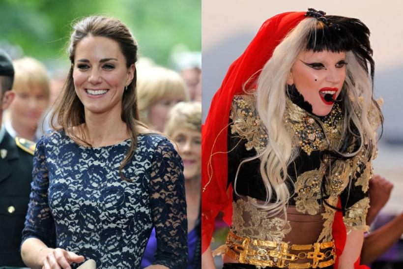 Kate Middleton versus Lady Gaga