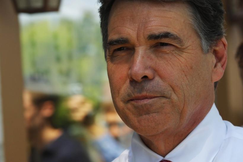 U.S. Republican presidential candidate and Texas Governor Rick Perry