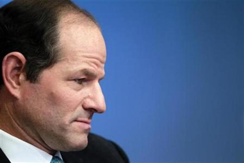 Former New York governor Spitzer speaks at the Reuters Global Financial Regulation Summit in New York