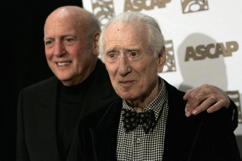 Song writers Stoller and Leiber arrive at 25th Annual ASCAP Pop Music Awards at Kodak theatre in Hollywood