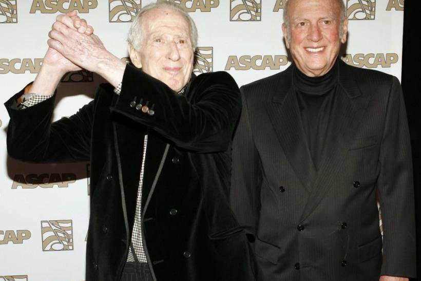 Song writers Leiber and Stoller arrive at 25th Annual ASCAP Pop Music Awards in Hollywood