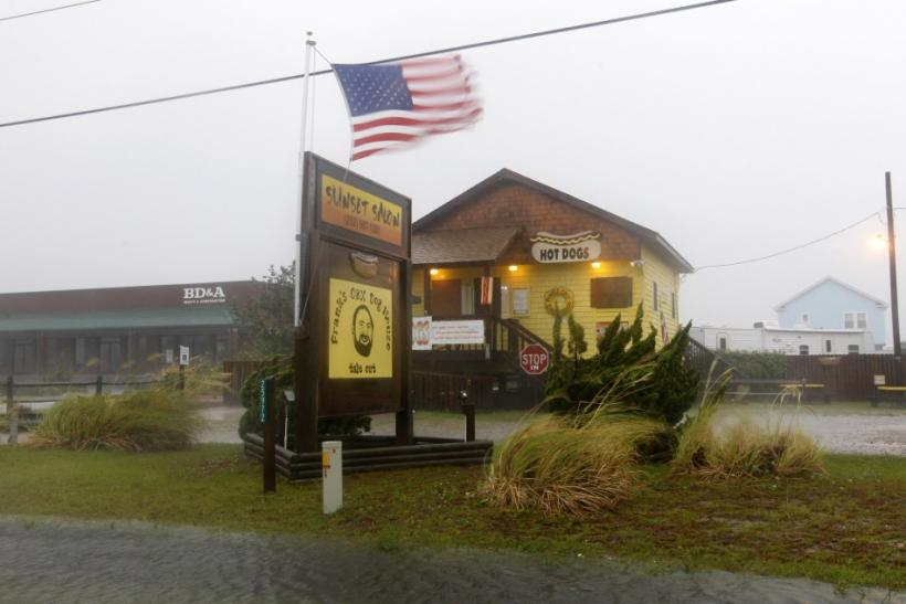 Hurricane Irene hits Cape Hatteras National Seashore in Rodanthe