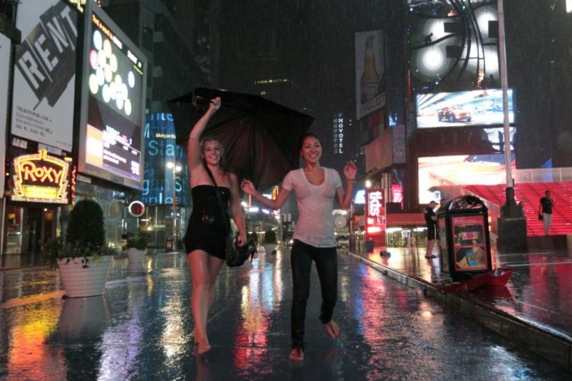 New York embraces Hurricane Irene