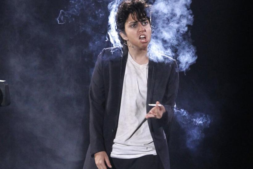 "Lady Gaga, dressed as a man, performs ""You and I"" at the 2011 MTV Video Music Awards in Los Angeles"