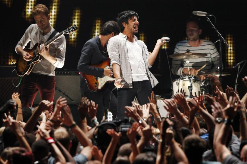 "Rock band Young The Giant performs ""My Body"" at the 2011 MTV Video Music Awards in Los Angeles"