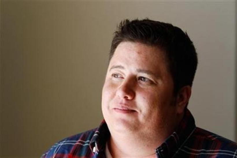 Chaz Bono poses for a portrait while promoting the film ''Becoming Chaz'' during the Sundance Film Festival in Park City, Utah
