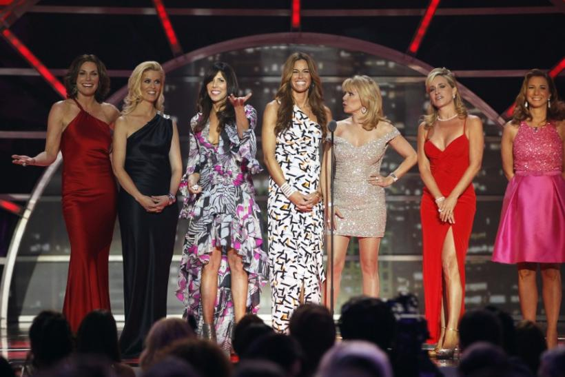 "The cast of ""The Real Housewives of New York City"" present an award during the 2011 TV Land Awards in New York"