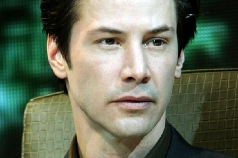 "Actor Keanu Reeves attends a news conference promoting the movie ""The Matrix Revolutions"" in Tokyo"