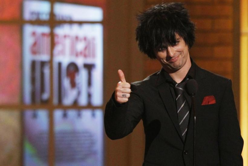 """Armstrong of the band """"Green Day"""" introduces his musical """"American Idiot"""" at 64th annual Tony Awards ceremony in New York"""