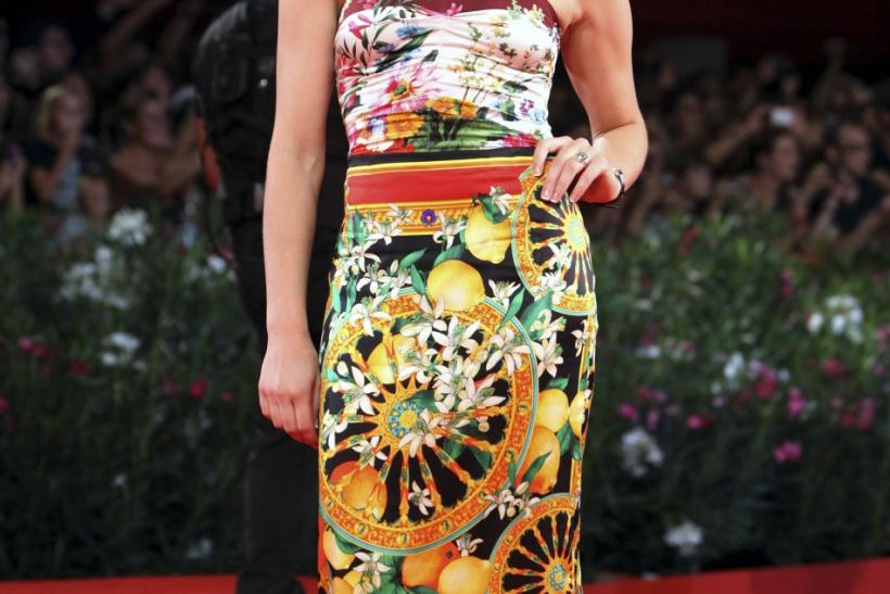 "Actress Natalie Dormer poses for photographers on the ""W.E"" red carpet at the 68th Venice Film Festival"