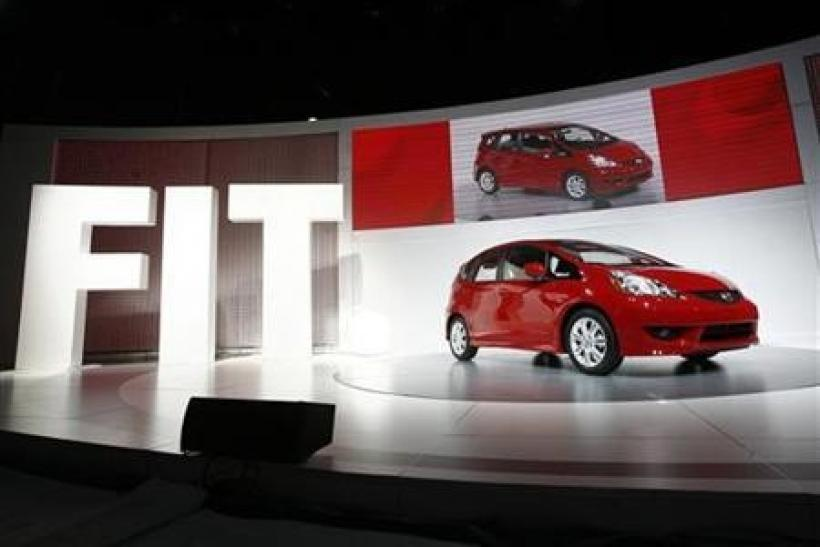 The 2009 Honda Fit is shown at the New York International Auto Show