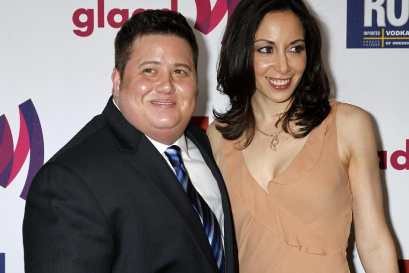 Chaz Bono and girlfriend Jennifer Elia arrive at the 22nd annual GLADD Media Awards in Los Angeles