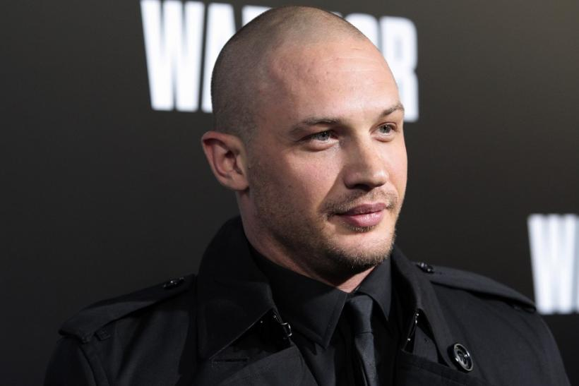 """Cast member Tom Hardy arrives at the film premiere of """"Warrior"""" in Hollywood, California"""