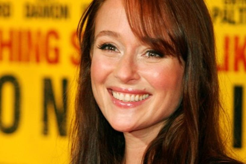 "Actress Jennifer Ehle poses as she arrives at the film premiere for ""Contagion"" in New York"