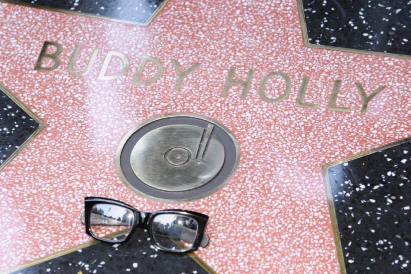 Musician Buddy Holly posthumously receives a Star on the Hollywood Walk of Fame in Hollywood