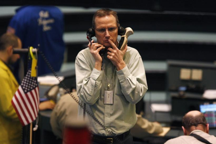 Trader in the Nymex pit