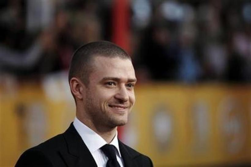 Justin Timberlake arrives at the 17th annual Screen Actors Guild Awards in Los Angeles, California