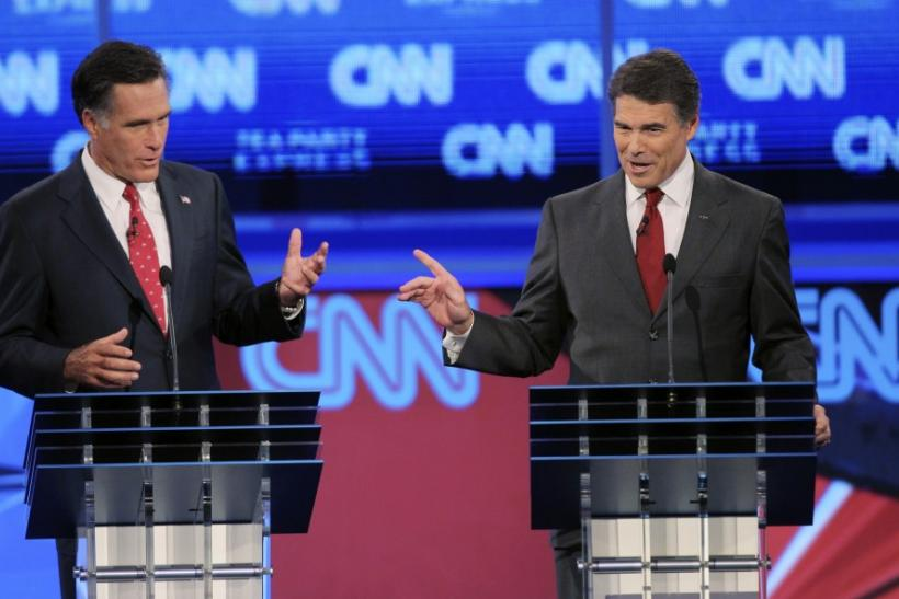 Romney and Perry debating
