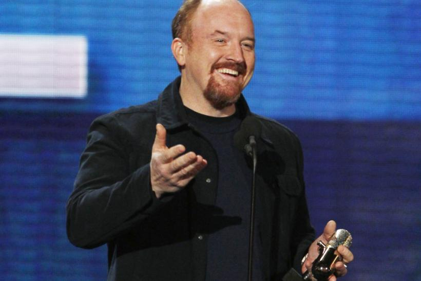 "Comedian Louis CK accepts the award for Best Stand-Up Special at ""The Comedy Awards"" in New York City"