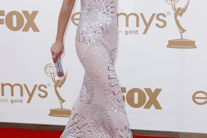 "Actress Maria Bello from television series ""Prime Suspect"" arrives at the 63rd Primetime Emmy Awards in Los Angeles September 18, 2011."