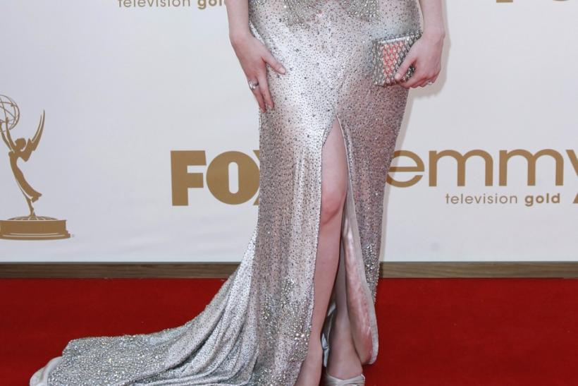"Actress Christina Hendricks from ""Mad Men"" arrives at the 63rd Primetime Emmy Awards in Los Angeles September 18, 2011."