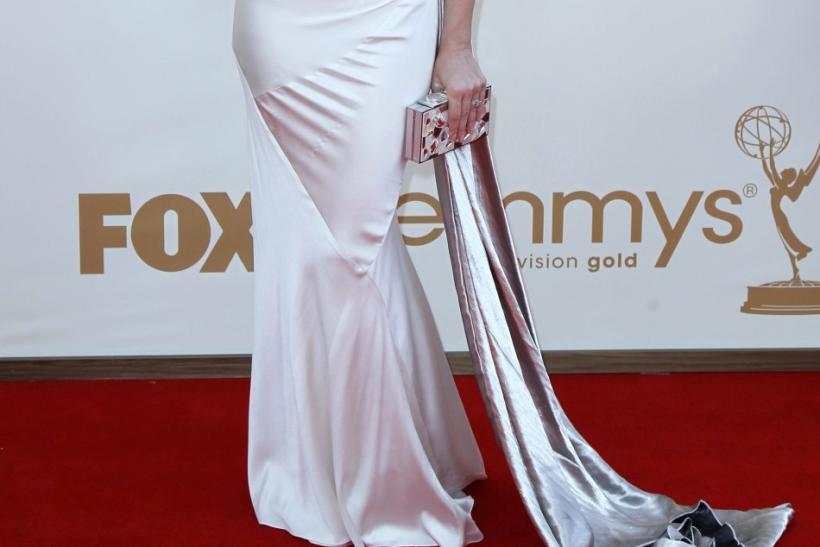 "Actress Cara Buono from the television series ""Mad Men"" arrives at the 63rd Primetime Emmy Awards in Los Angeles September 18, 2011."