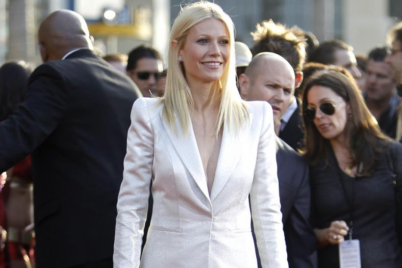 "Paltrow attends the premiere of the movie ""Iron Man 2"" at El Capitan theatre in Hollywood"