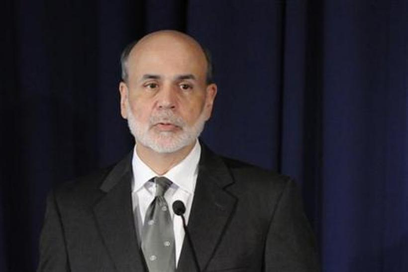 Bernanke makes remarks at the start of a conference on systemic risk, at the Federal Reserve in Washington
