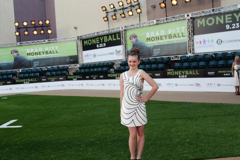 "Cast member Kerris Dorsey poses as she arrives for the world premiere of the film ""Moneyball"" in Oakland, California"