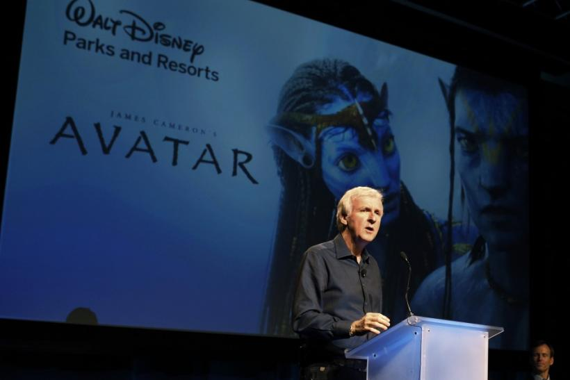 "James Cameron announces the agreement to bring ""Avatar"" themed lands to Disney parks. Reuters/Fred Prouser"