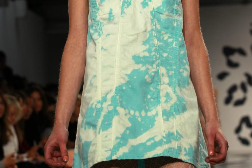 A model presents a creation at the House of Holland 2012 Spring/Summer collection during London Fashion Week