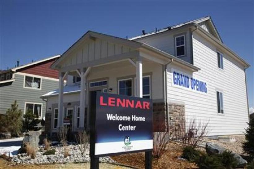 A Lennar model home is open for customers in a new neighborhood in the Denver suburb of Thornton