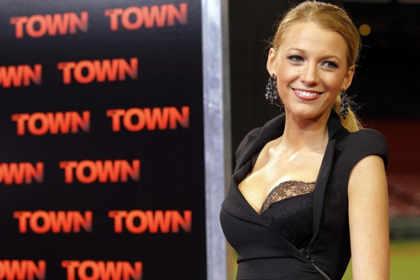 "Actress Blake Lively arrives for the premiere of the movie ""The Town"" at Fenway Park in Boston"