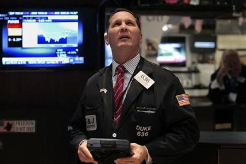 Trader Edward Curran on the floor of the New York Stock Exchange