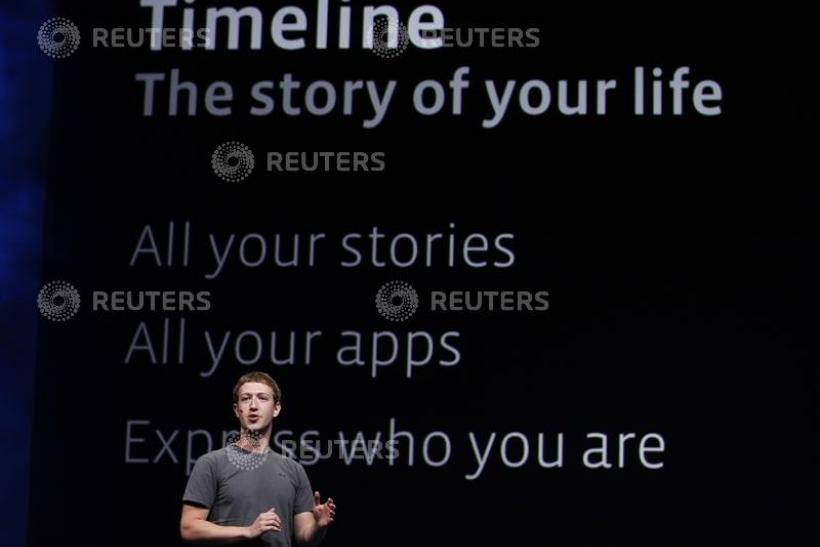 Facebook CEO Mark Zuckerberg introduces Timeline for Facebook in San Francisco.