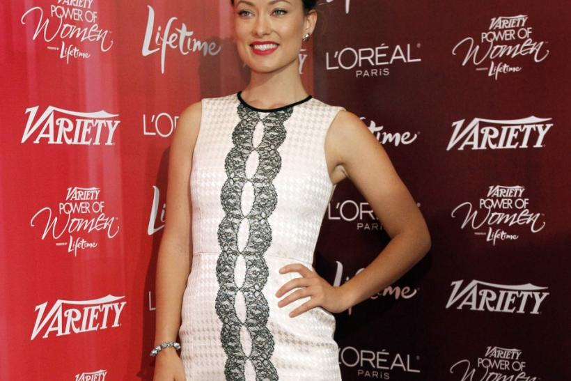 Actress and honoree Olivia Wilde poses at Variety's 3rd Annual Power of Women luncheon in Beverly Hills, California