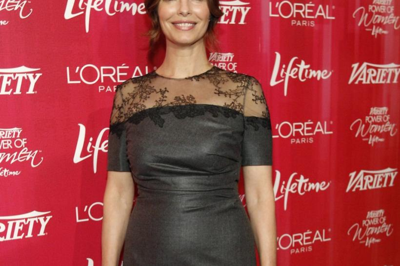 Actress Jeanne Tripplehorn poses at Variety's 3rd Annual Power of Women luncheon in Beverly Hills, California