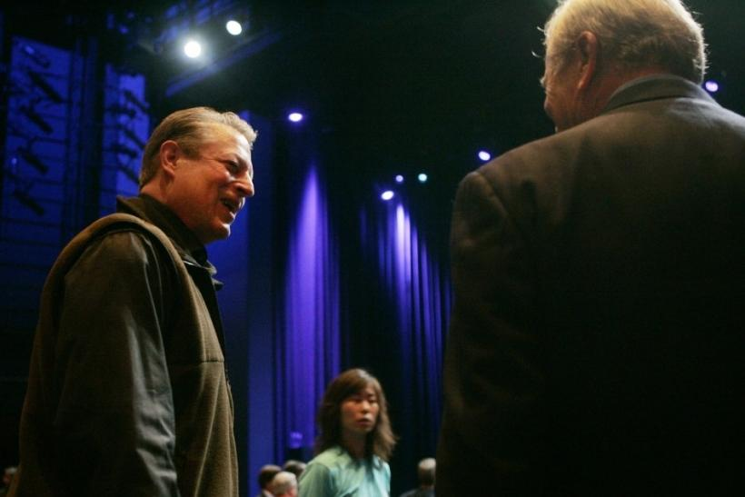 Former vice president Al Gore attends launch of new Apple tablet in San Francisco