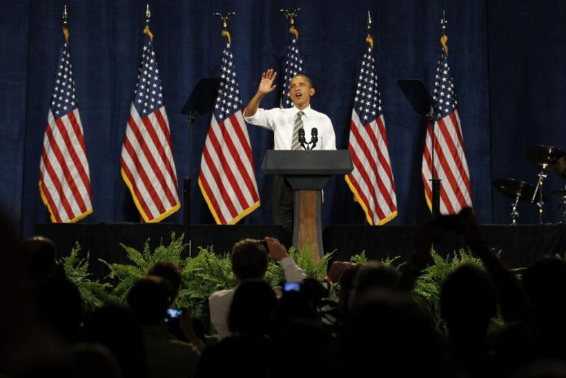 President Barack Obama at a Democratic Party fundraiser in Seattle