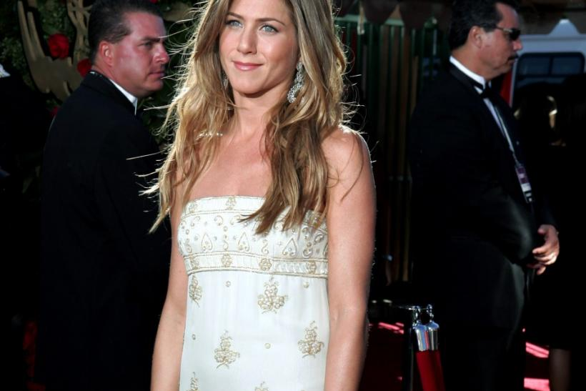Actress Jennifer Aniston arrives at the 56th annual Primetime Emmy Awards in Los Angeles.