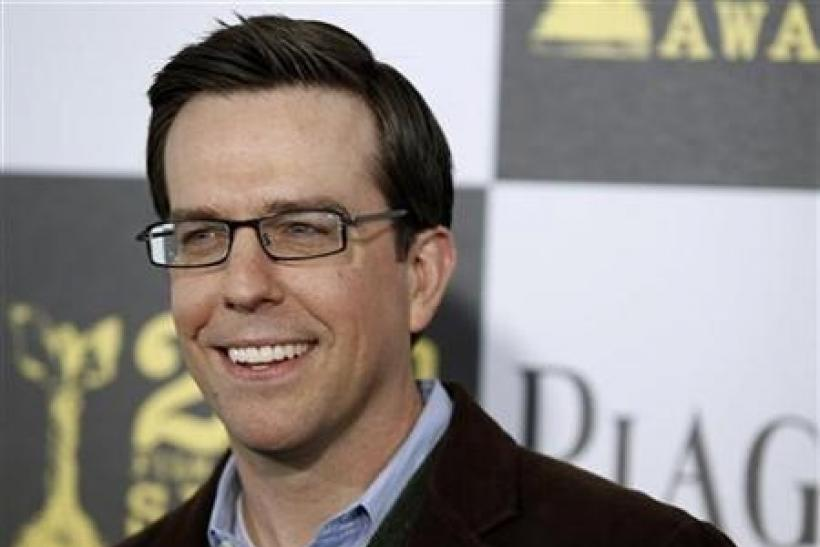 Actor Ed Helms from ''The Hangover'' arrives at the 25th annual Film Independent Spirit Awards in Los Angeles