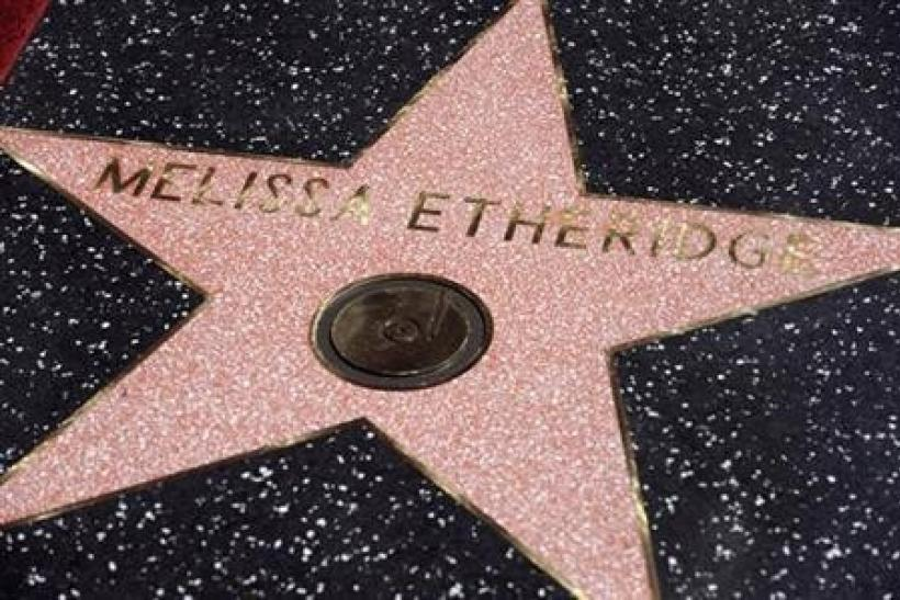 A star created for singer Melissa Etheridge is seen on the Hollywood Walk of Fame in Los Angeles